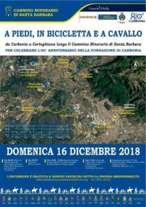 Domenica 16 dicembre verrà inaugurata una nuova tappa del Cammino Minerario di Santa Barbara, da Carbonia a Cortoghiana.