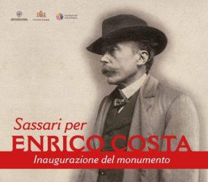 Lunedì 17 dicembre verrà inaugurata in Piazza Fiume, a Sassari, la statua in bronzo dedicata a Enrico Costa.