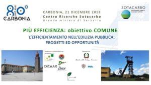 """Venerdì mattina, al Centro Ricerche Sotacarbo, si terrà il convegno """"Più efficienza: obiettivo comune. L'efficientamento nell'edilizia pubblica. Progetti ed opportunità""""."""