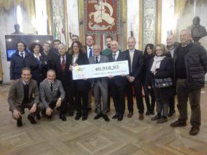 E' pari a 40.918,93 euro la somma raccolta da Stelle nello Sport per l'emergenza Ponte Morandi.