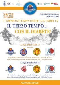 """L'evento """"Terzo Tempo…con il Diabete"""", a Sant'Antioco, si arricchisce di un torneo giovanile di basket."""