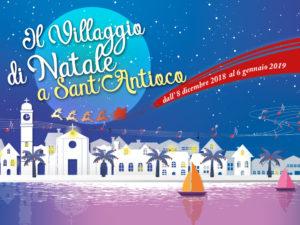 E' stato inaugurato oggi, a Sant'Antioco, il Villaggio di Natale, sarà visitabile fino al 6 gennaio 2019.