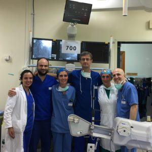 Record per la Cardiologia interventistica dell'Aou di Sassari che nel 2018 ha fatto registrare 713 interventi di angioplastica coronarica.