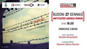 MAB teatro a Budoni. il 27 gennaio, per la Giornata della Memoria 2019.