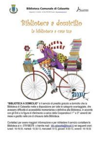 """Decolla, a Calasetta, """"Biblioteca a domicilio"""", il nuovo servizio della biblioteca comunale, concepito e promosso dalla cooperativa sociale """"Millepiedi""""."""
