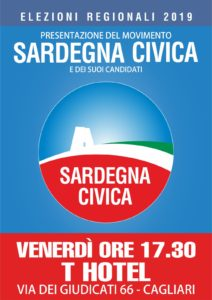Venerdì 25 gennaio, alle ore 17,30, presso il Thotel, in va Dei Giudicati 66, a Cagliari, si terrà la presentazione del Movimento e dei candidati di SARDEGNA CIVICA.