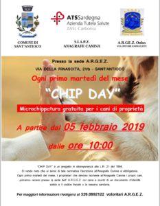 """A Sant'Antioco ritorna l'appuntamento mensile con il """"Chip day"""", per la microchippatura dei cani."""