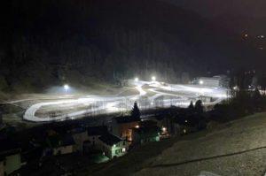 E' stata aperta a Lanzada la pista di fondo in località Pradasc, l'unica disponibile a media quota in tutta la Valtellina.