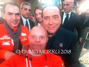 Silvio Berlusconi ha concluso oggi il suo tour elettorale per le suppletive nel collegio uninominale di Cagliari, con il pensiero già rivolto alle Europee.