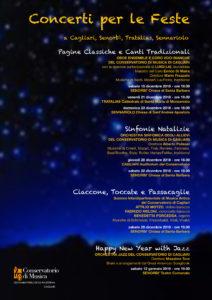 """Sabato a Senorbì cala il sipario sui """"Concerti per le feste"""", con """"Happy new year with jazz"""", concerto dell'Orchestra jazz del Conservatorio."""