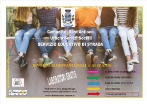 """A Sant'Antioco ritorna il progetto """"Educativa di strada"""", laboratori dedicati a giovani dagli 11 ai 18 anni."""