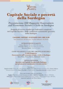 """Giovedì pomeriggio verrà presentato, a Cagliari, il XIII Rapporto dell'""""Osservatorio sull'Economia Sociale e Civile in Sardegna"""", curato dallo IARES."""