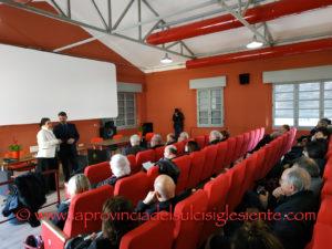 """E' stata inaugurata questa mattina, nei locali della Fabbrica del Cinema, a Carbonia, la sala cinematografica """"Fabio Masala""""."""