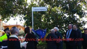 E' stata inaugurata questa mattina, a Carbonia, la via dedicata ad Antonino Saglimbene.