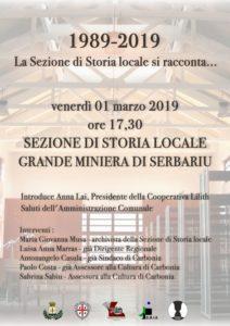 Venerdì pomeriggio, nella sede dell'ex Officina Meccanica, verranno celebrati i 30 anni della Sezione di storia locale di Carbonia.