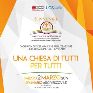 Sabato 2 marzo, nell'Aula Magna del Seminario arcivescovile di Cagliari, si svolgerà la giornata diocesana di sensibilizzazione e informazione sul «Sovvenire. Una Chiesa di tutti per tutti».