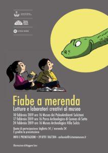 """Domenica 17 febbraio, nel Parco archeologico di Cannas di Sotto, a Carbonia, è in programma il secondo appuntamento con """"Fiabe a merenda""""."""