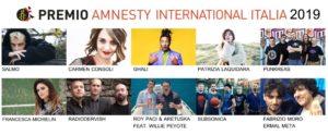 Dieci artisti in lizza per la miglior canzone sui diritti umani.