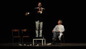"""""""Era l'allodola?"""", lo spettacolo finalista e vincitore del premio come miglior attore protagonista al """"Roma Comic Festival 2018"""", arriva ad Ossi."""