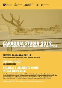 """Giovedì 28 marzo, nella Biblioteca comunale di Carbonia, nuovo appuntamento per la rassegna """"Carbonia studia 2019"""", con l'archeozoologa Ornella Fonzo."""