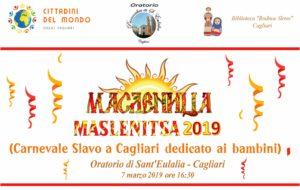 """A Cagliari, nell'Oratorio di Sant'Eulalia, tantissimi bambini si sono ritrovati per festeggiare Maslenitsa il """"carnevale slavo"""" della comunità immigrata post-sovietica."""