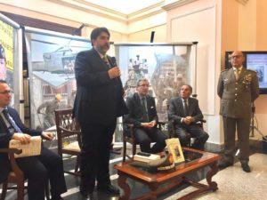 """Il presidente della Regione Christian Solinas, è intervenuto stamane alla presentazione del libro """"La Sardegna degli eroi dimenticati. Mandas e la Grande Guerra""""."""