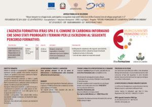 Sono stati prorogati al 19 marzo i termini per le iscrizioni al percorso formativo gratuito organizzato dall'agenzia IFRAS SpA.
