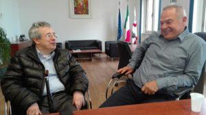 Il neo presidente della VI commissione regionale Domenico Gallus, a Sassari per motivi personali, ha incontrato la direzione Aou.