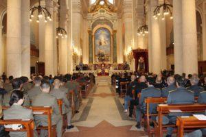 """Nella Basilica di """"N.S. di Bonaria"""", l'arcivescovo di Cagliari S.E.R. mons. Arrigo Miglioha presieduto la celebrazione del tradizionale Precetto Pasquale Interforze."""