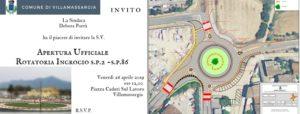 E' in programma venerdì mattina, a mezzogiorno, l'inaugurazione della rotatoria all'ingresso di Villamassargia.
