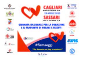 Domenica 28 aprile è prevista a Cagliari una giornata di sensibilizzazione sulla donazione di organi e sulla prevenzione sanitaria organizzata dall'associazione Prometeo AITF ODV.