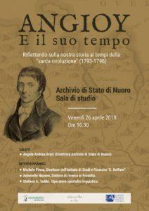 """Il 26 aprile l'Istituto Bellieni di Nuoro organizza un convegno all'Archivio di Stato per ricordare la figura di """"Angioy e il suo tempo""""."""
