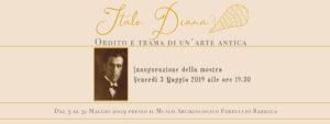 Da venerdì 3 maggio, per la prima volta, al Museo Archeologico Ferruccio Barreca, in esposizione i manufatti del maestro d'arte Italo Diana.