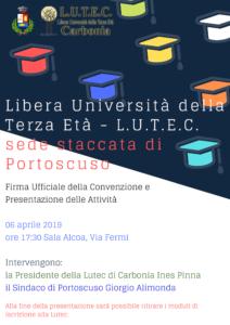 Nasce a Portoscuso, la sede staccata della Lutec, Libera Università della Terza Età di Carbonia.