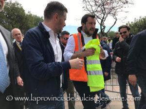 Il ministro dell'Interno e vicepremier Matteo Salvini è tornato in Sardegna stamane, alla vigilia dell'insediamento del nuovo Consiglio regionale.
