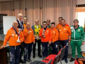 L'assessore regionale della Sanità, Mario Nieddu, ha ricevuto questa mattina gli atleti della Pol. Olimpia Onlus, di ritorno dal Brasile No Limits.