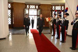 Il prefetto di Cagliari, dott. Bruno Corda, oggi ha fatto visita al Comando Legione Carabinieri Sardegna.