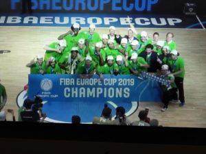 Il sogno della Dinamo si è avverato, ha sbancato la S. Oliver Arena di Wurzburg ed ha conquistato la Fiba Europe Cup!