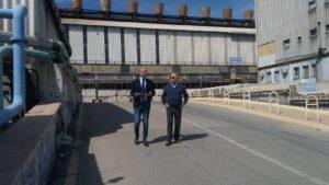 Il consigliere regionale Fabio Usai ha visitato questo pomeriggio lo stabilimento Sider Alloys di Portovesme.