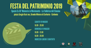 Anche il CSC Carbonia della Società Umanitaria aderisce alla Festa del Patrimonio 2019, promossa dal comune di Carbonia.