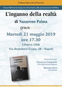"""Domani, 21 maggio, all'Ubik di Napoli, Nazareno Palma presenta il romanzo d'esordio """"L'inganno della realtà""""."""