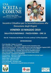 Venerdì 10 maggio la sala polifunzionale del comune di Carbonia ospiterà un incontro pubblico per sensibilizzare i cittadini sulla donazione degli organi.