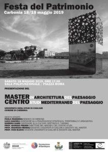 Sabato pomeriggio, a Carbonia, verrà presentato il Master in Architettura del Paesaggio e del Centro Studi Mediterraneo del Paesaggio.