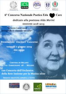 Venerdì 7 giugno, a Milano, si terrà la cerimonia di premiazione del 6° Concorso Nazionale Poeticodedicato ad Alda Merini.