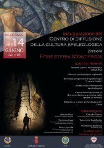 Venerdì 14 giugno, ad Iglesias, alle ore 11.00, presso la Foresteria Monteponi, verrà inaugurato il Centro di Diffusione della Cultura Speleologica.