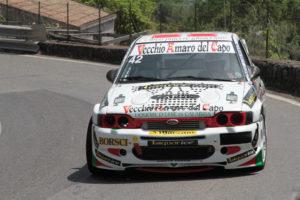 """Alla """"Cronoscalata della Castellana"""" Ennio Donato (Ford Escort Cosworth) della Porto Cervo Racing ha chiuso 19° assoluto, 1° di classe E1 Italia oltre 3000 e 3° nel gruppo E1 Italia."""