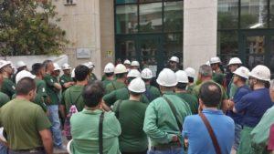 Si è concluso nel primo pomeriggio il presidio di una rappresentanza di lavoratori Eurallumina davanti all'assessorato regionale dell'Ambiente, in via Roma, a Cagliari.
