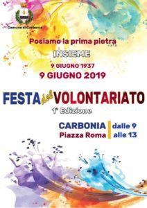"""Mancano pochi giorni alla """"Festa del Volontariato"""", organizzata dal comune di Carbonia per domenica 9 giugno, in piazza Roma."""