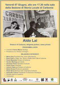 """Carbonia. Gli """"amici della Miniera"""" ricordano Aldo Lai, sindaco negli anni della lotta per il passaggio all'Enel dei minatori di Serbariu"""