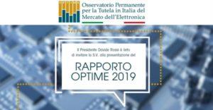 Saranno diffusi domani, alla Camera di Commercio di Roma, i dati ufficiali elaborati da GfK sul valore del mercato dell'elettronica in Italia, in occasione della presentazione del Rapporto OPTIME 2019.